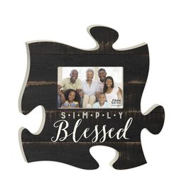 P GRAHAM DUNN Simply Blessed Picture Frame - Puzzle Piece