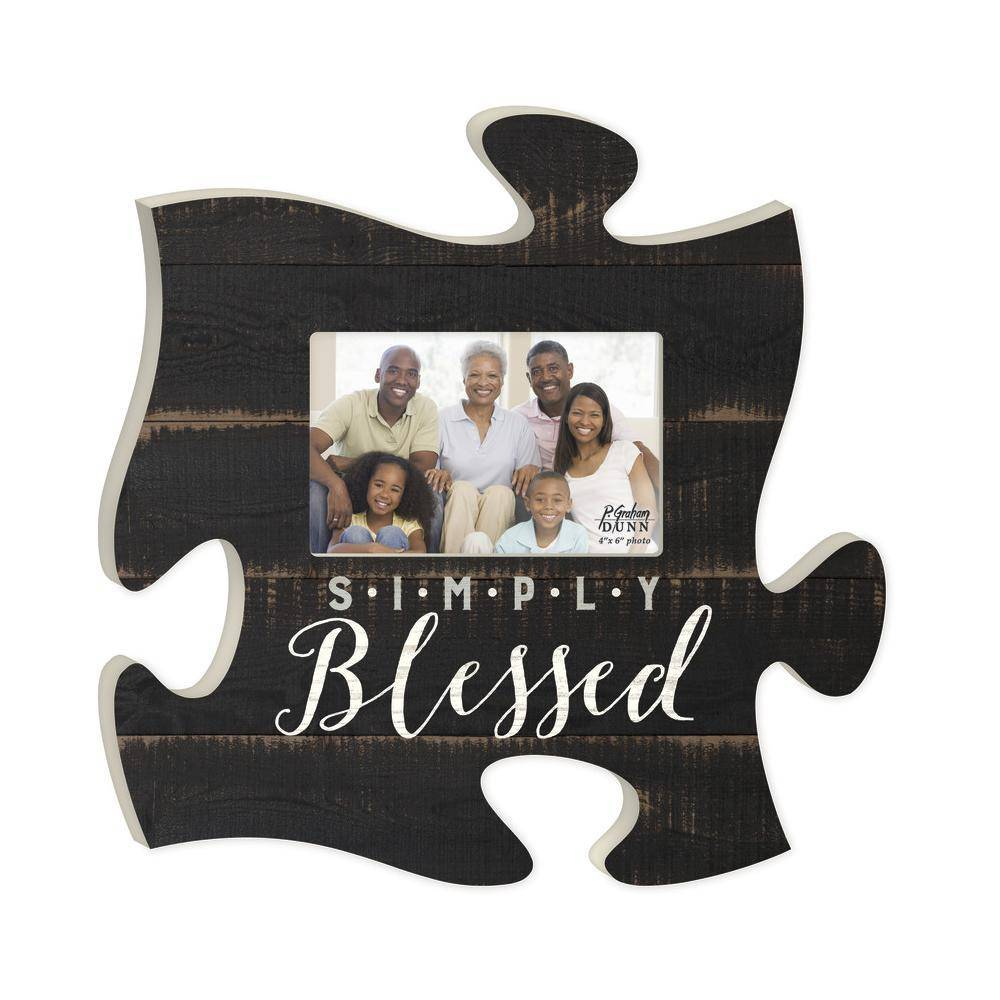 P GRAHAM DUNN Simply Blessed Picture Frame - Puzzle Piece - HOME ...