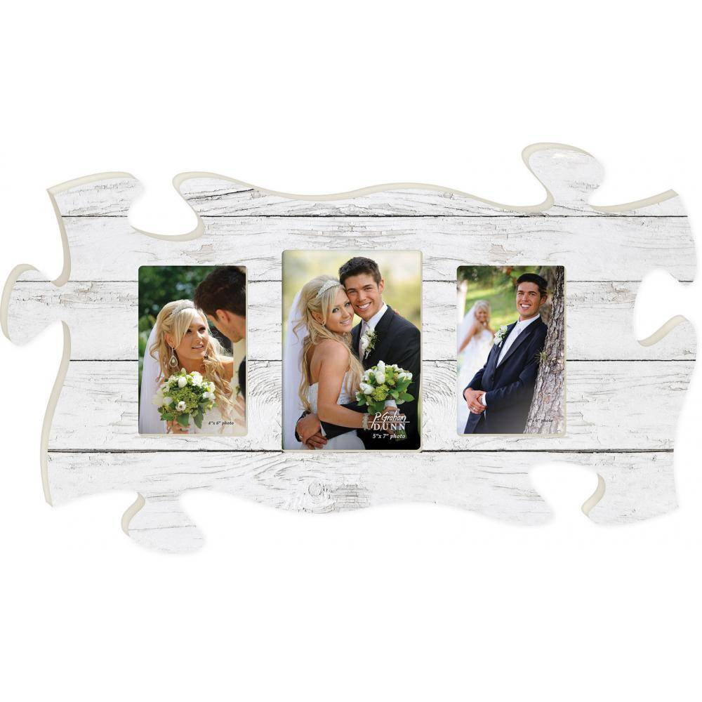 P GRAHAM DUNN White Wood Picture Frame - Puzzle Piece - HOME ...