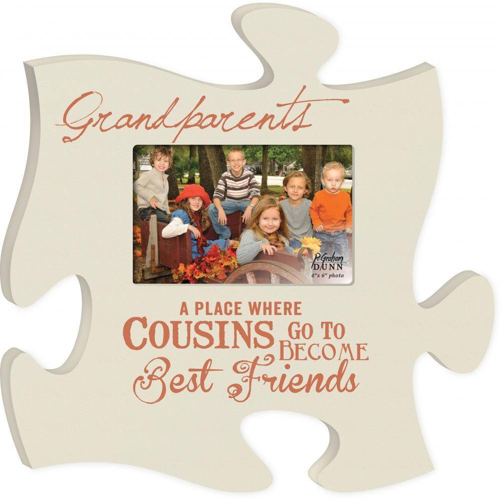 P GRAHAM DUNN Grandparents Picture Frame - Puzzle Piece - HOME ...
