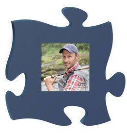 P GRAHAM DUNN Blue Picture Frame - Puzzle Piece
