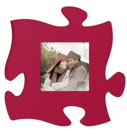 P GRAHAM DUNN Red Picture Frame - Puzzle Piece