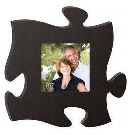 P GRAHAM DUNN Black Picture Frame - Puzzle Piece