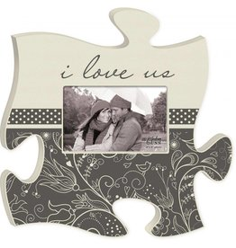 P GRAHAM DUNN I Love Us Picture Frame - Puzzle Piece