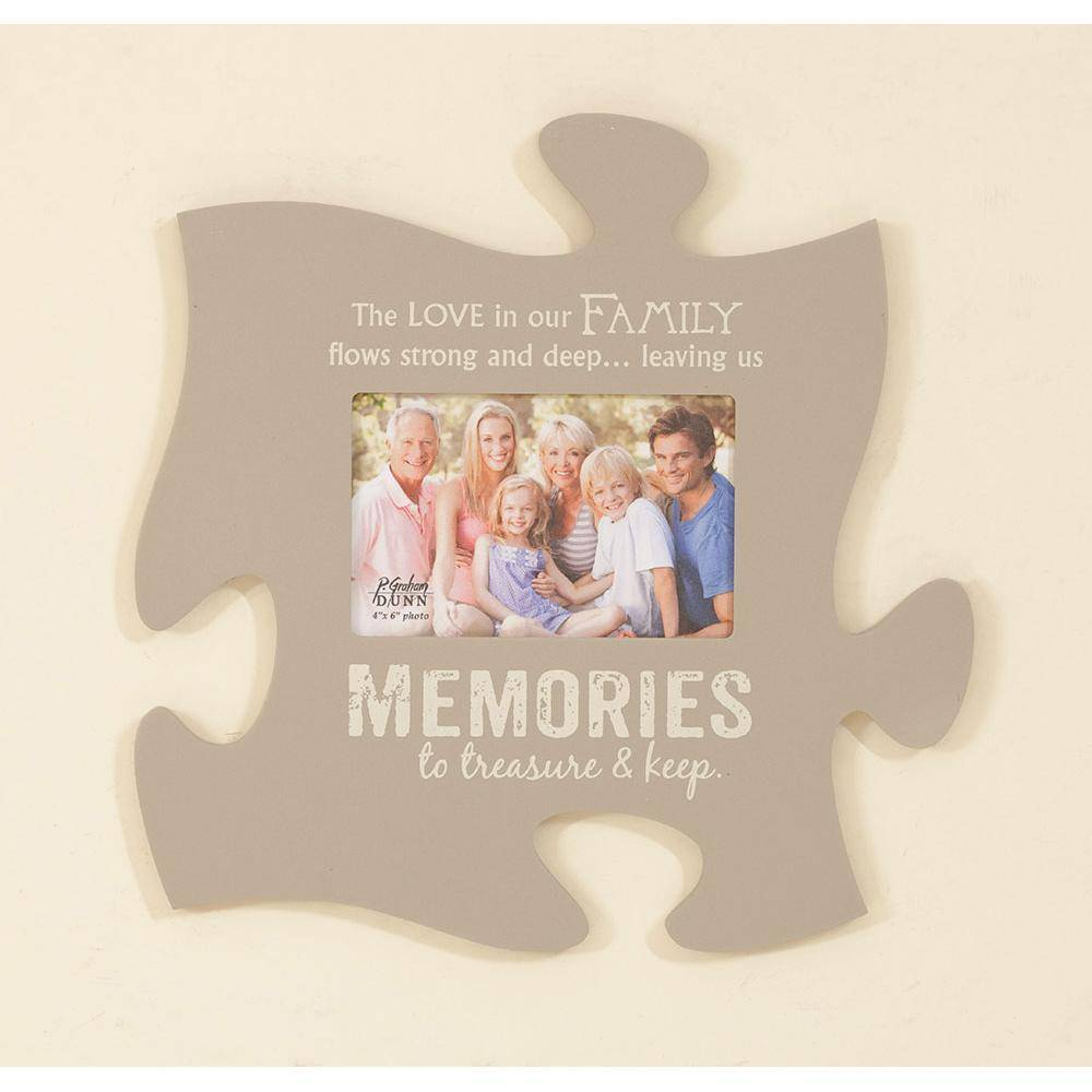 P GRAHAM DUNN Memories Picture Frame - Puzzle Piece - HOME WAREHOUSE ...