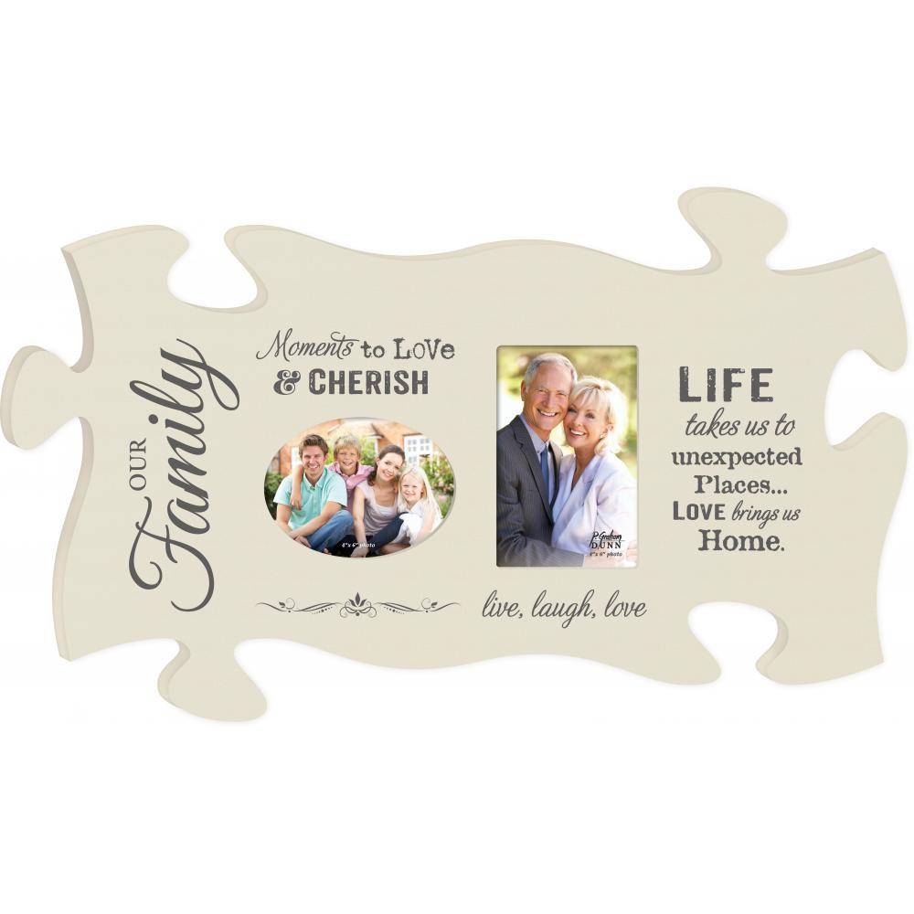 P GRAHAM DUNN Moments to Love Picture Frame - Puzzle Piece - HOME ...