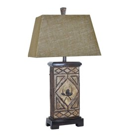 CRESTVIEW Pinecone Lodge Table Lamp DS