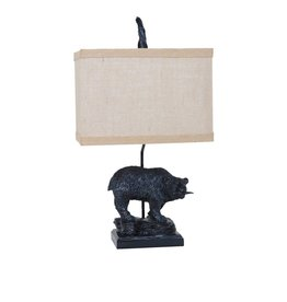 CRESTVIEW Fishing Bear Table Lamp DS