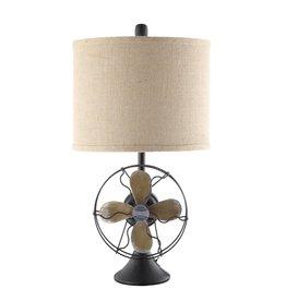 CRESTVIEW Antique Fan Table Lamp DS