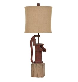 CRESTVIEW Antique Pump Table Lamp DS