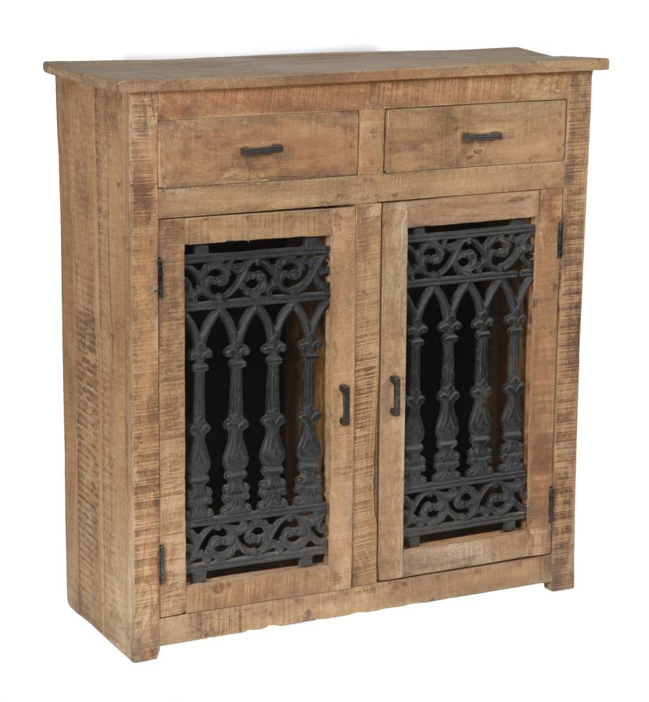 crestview bengal manor mango wood and solid metal cabinet ds