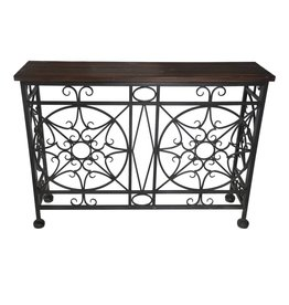 CRESTVIEW BROADMOOR METAL AND WOOD CONSOLE TABLE DS