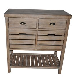 CRESTVIEW Jackson 2 Basket Drawer Rustic Console DS