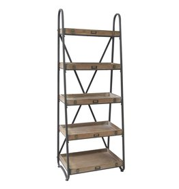 CRESTVIEW Voyager Metal and Wood Tiered Etagere DS