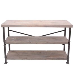 CRESTVIEW Midtown Wood and Metal Console DS