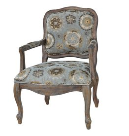 CRESTVIEW Hillcrest Rustic Frame & Pattern Chair DS
