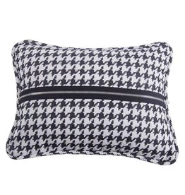 HIEND Houndstooth Deco Pillow with Piping and Zipper
