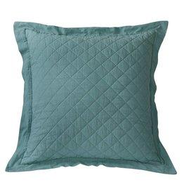 HIEND Diamond Pattern Linen Quilted Euro Sham - Turquoise