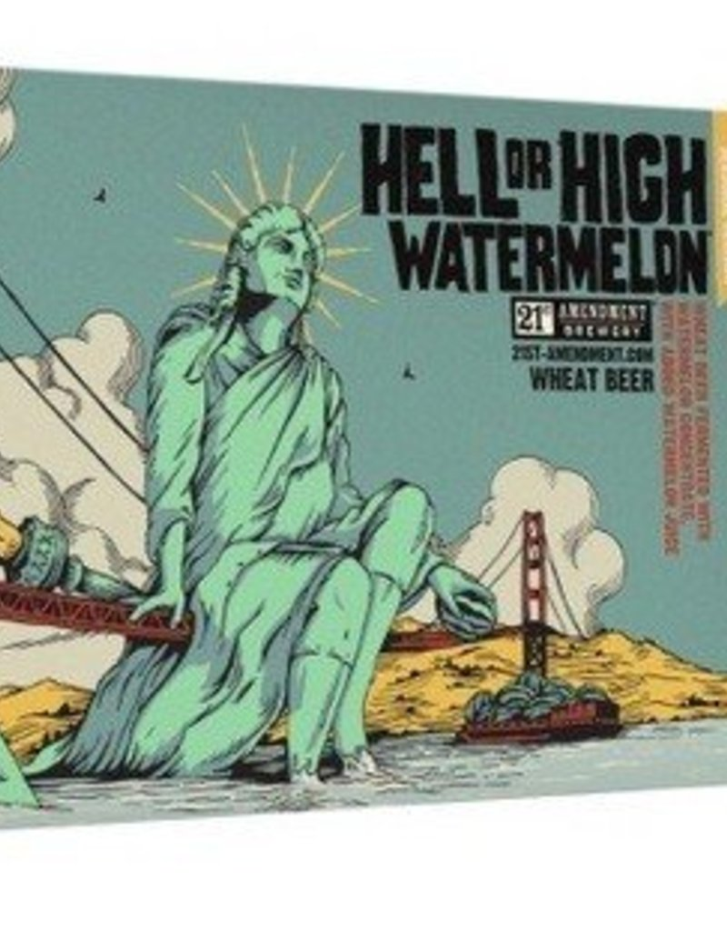21st Amendment Hell or High Watermelon 6pk cans