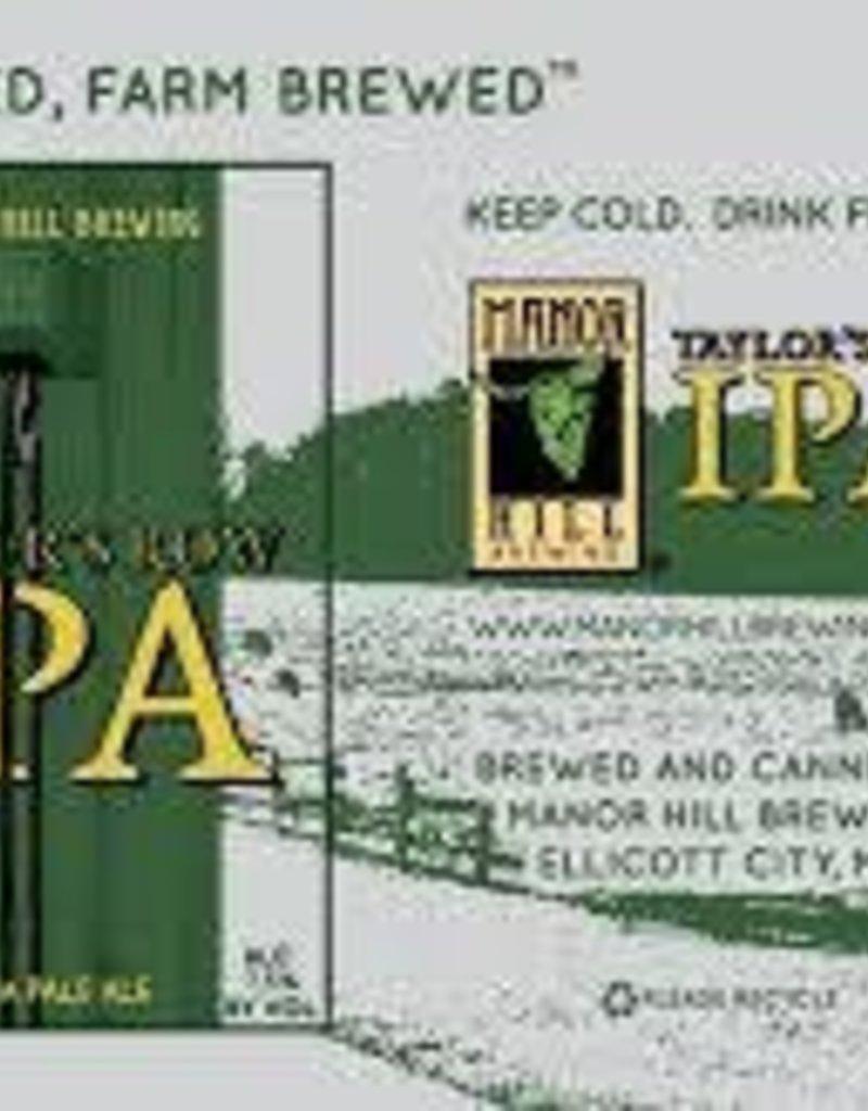 Manor Hill Taylor's Row IPA 6pk