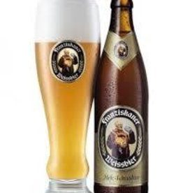 Franziskaner Hefe Weiss six 12 oz bottles