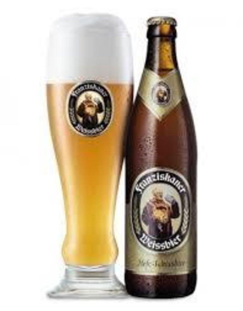 Franziskaner Hefe Weiss six 12 oz bottles