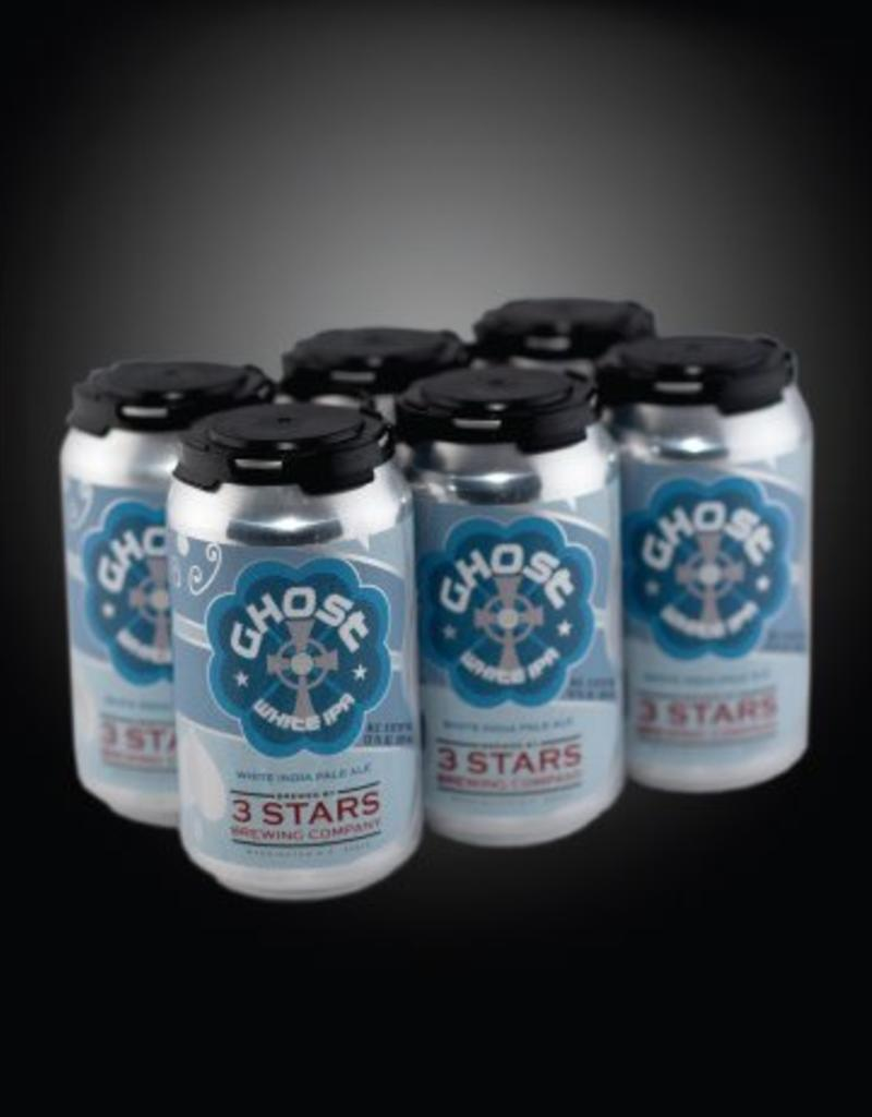 3 Stars Ghost White IPA 6pk cans