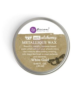 Art Alchemy Metallique Wax White Gold