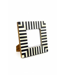 Black and White Stripe Bone Frame