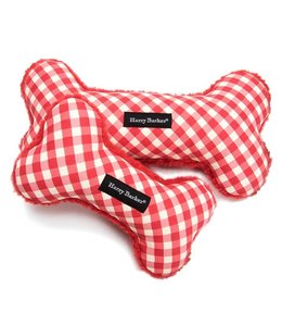 Gingham Bone Toy Red - Large