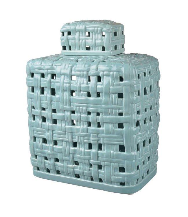 A & B Home Ballas Lidded Jar - Mint
