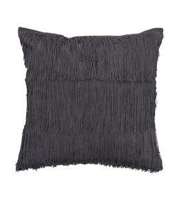 Bloomingville Cotton Fringe Pillow, Grey
