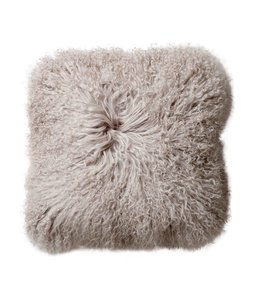 Bloomingville Mongolian Lamb Fur Pillow Grey 20""