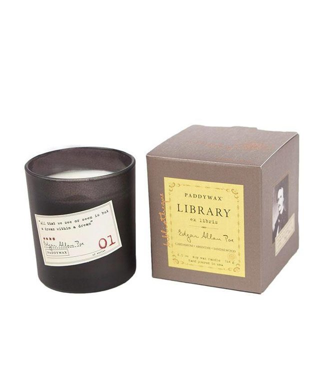 Paddywax Library Candle 6.5oz - Edgar Allan Poe