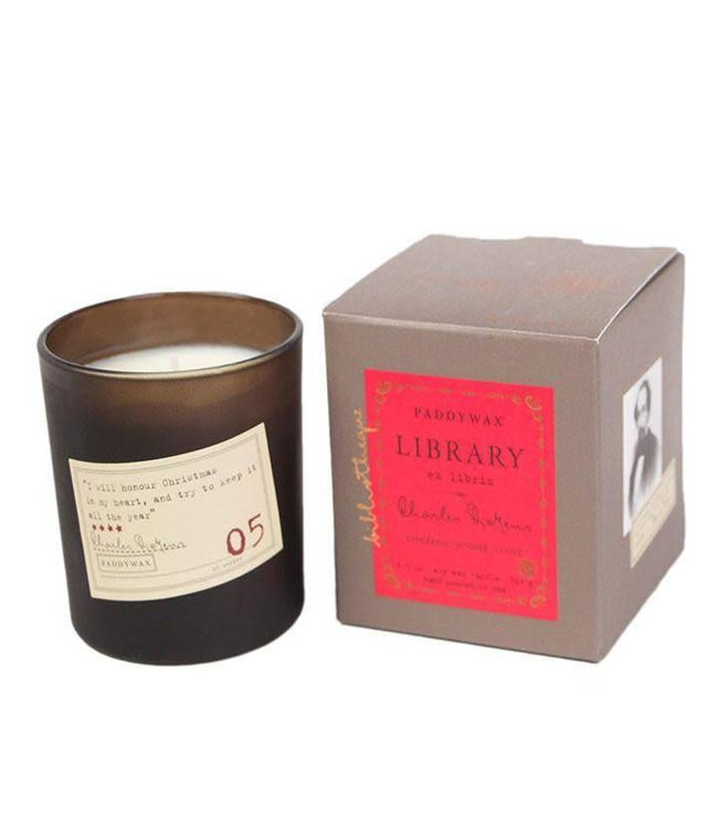 Paddywax Library Candle 6.5oz - Charles Dickens