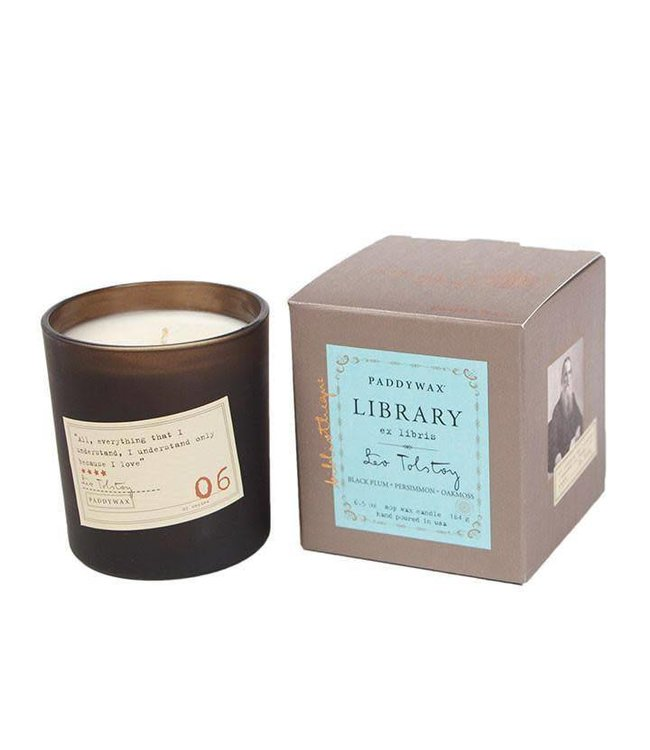 Paddywax Library Candle 6.5oz - Leo Tolstoy