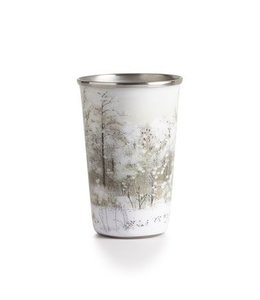 illume Winter White Enameled Tumbler Candle