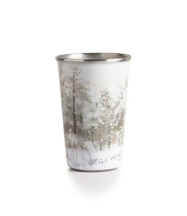 illume Winter White Enameled Tumbler Candle