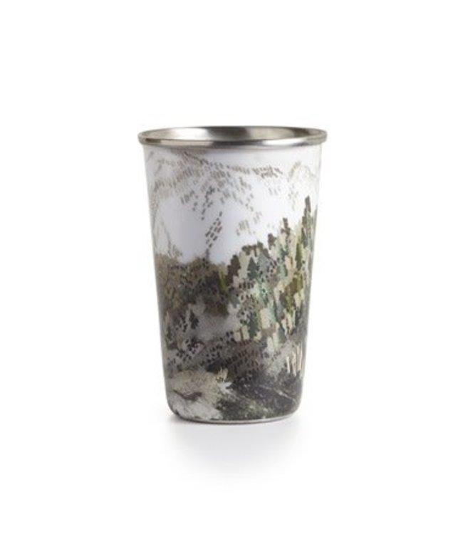illume Woodfire Enameled Tumbler Candle