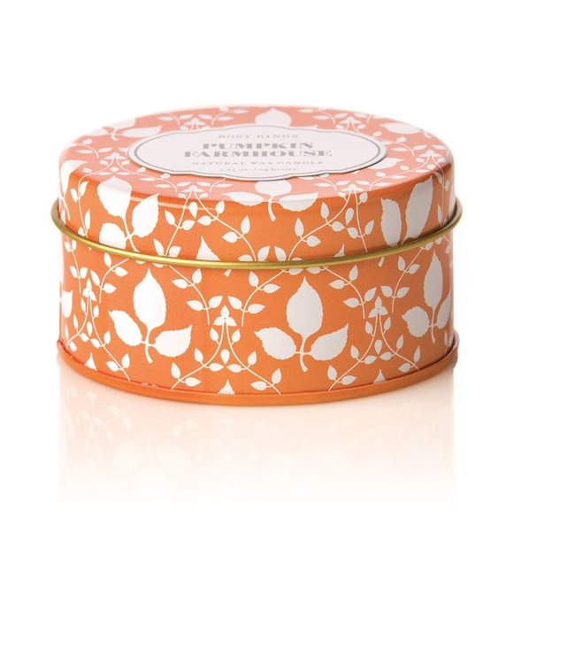 Pumpkin Farmhouse Travel Tin