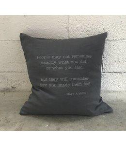 Stash Maya Angelou Pillow Grey