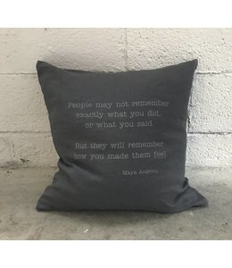 Stash Style Maya Angelou Pillow Grey