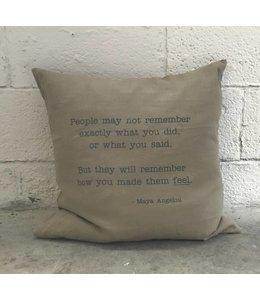 Stash Maya Angelou Pillow Tan