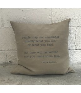 Stash Style Maya Angelou Pillow Tan