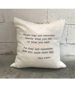 Stash Maya Angelou Pillow White