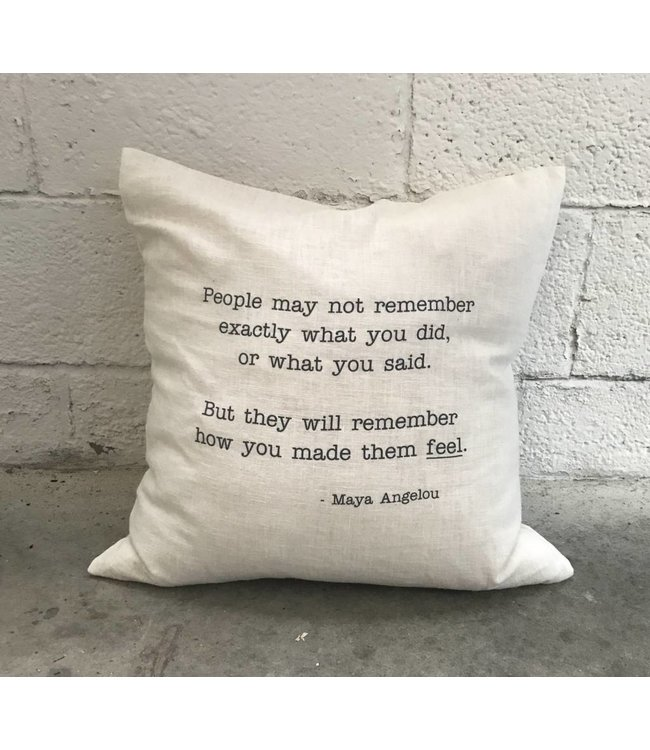 Stash Style Maya Angelou Pillow White