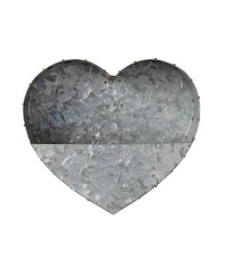 Galvanized Metal Heart Wall Planter