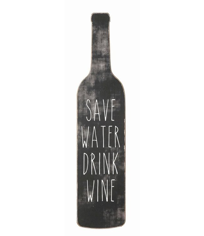 Creative Co-Op Save Water Drink Wine Wall Decor