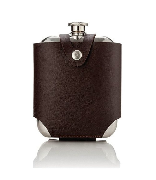 Admiral Stainless Steel Flask and Traveling Case