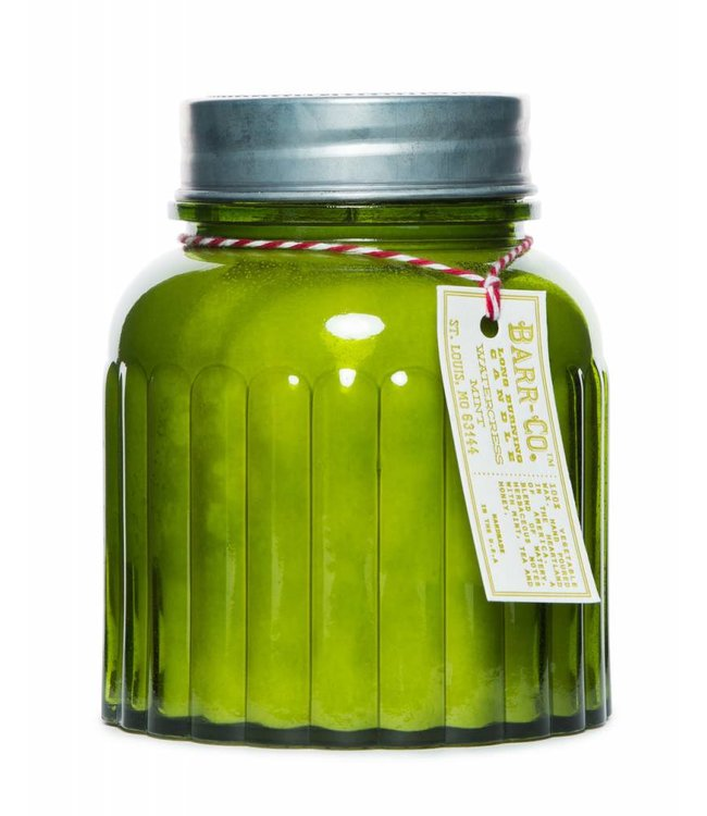 Barr Co. Watercress Mint Apothecary Jar Candle